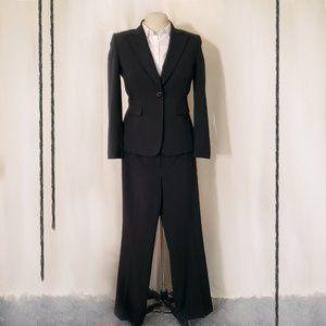 Black Pinstripe Pants Suit